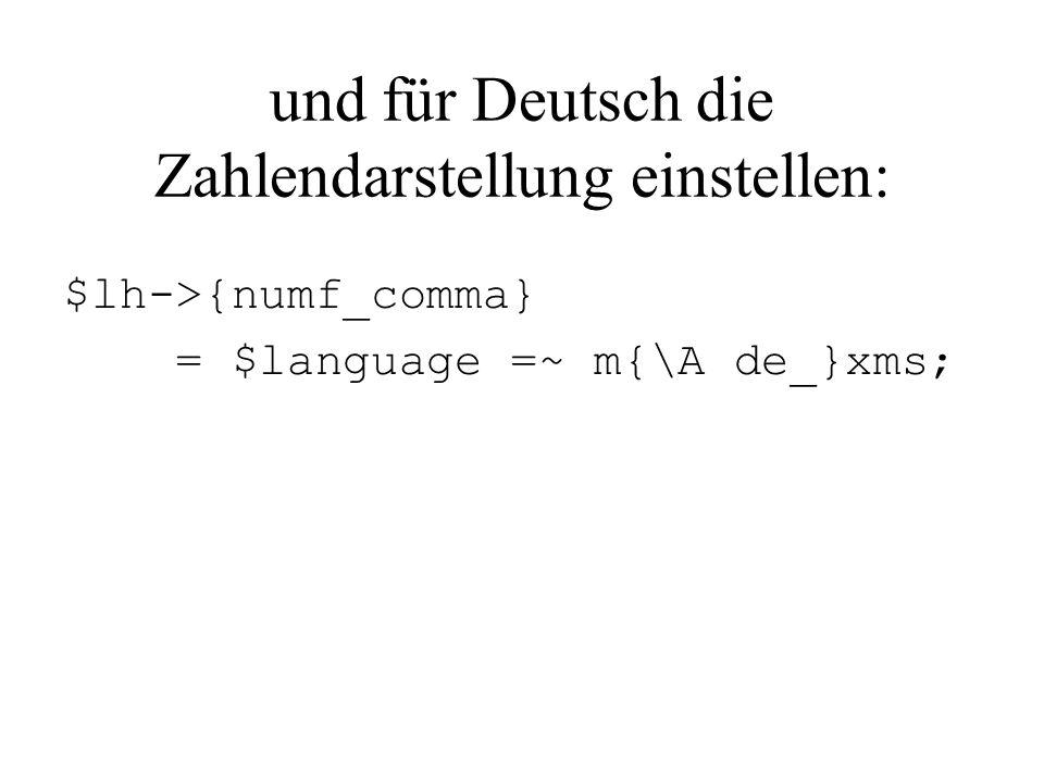 und für Deutsch die Zahlendarstellung einstellen: