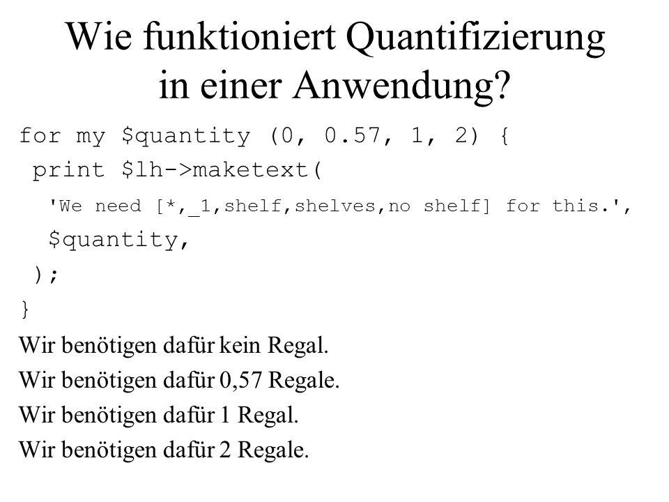 Wie funktioniert Quantifizierung in einer Anwendung