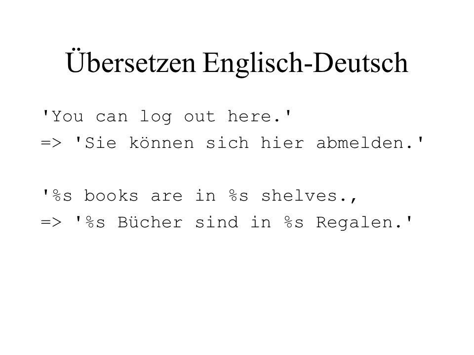 Übersetzen Englisch-Deutsch