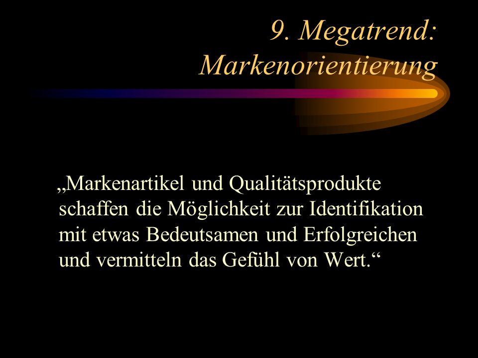 9. Megatrend: Markenorientierung