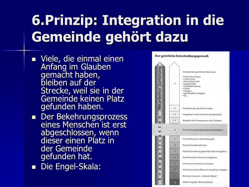 6.Prinzip: Integration in die Gemeinde gehört dazu