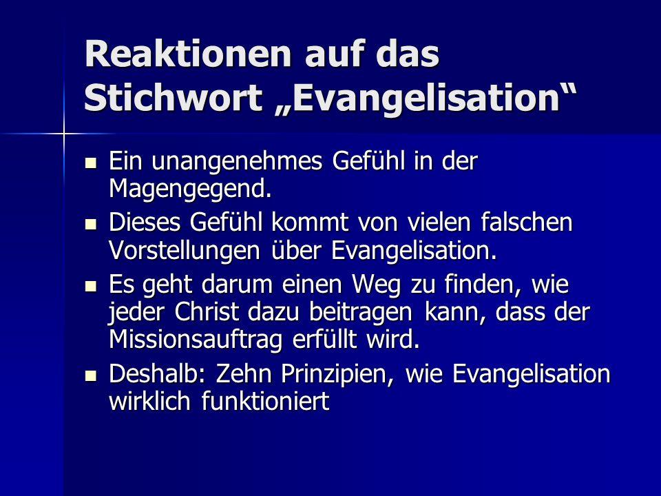 """Reaktionen auf das Stichwort """"Evangelisation"""