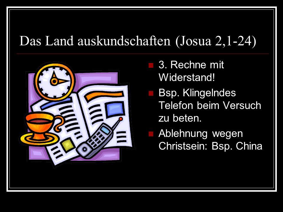Das Land auskundschaften (Josua 2,1-24)