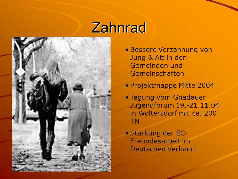 Zahnrad Bessere Verzahnung von Jung & Alt in den Gemeinden und Gemeinschaften. Projektmappe Mitte 2004.