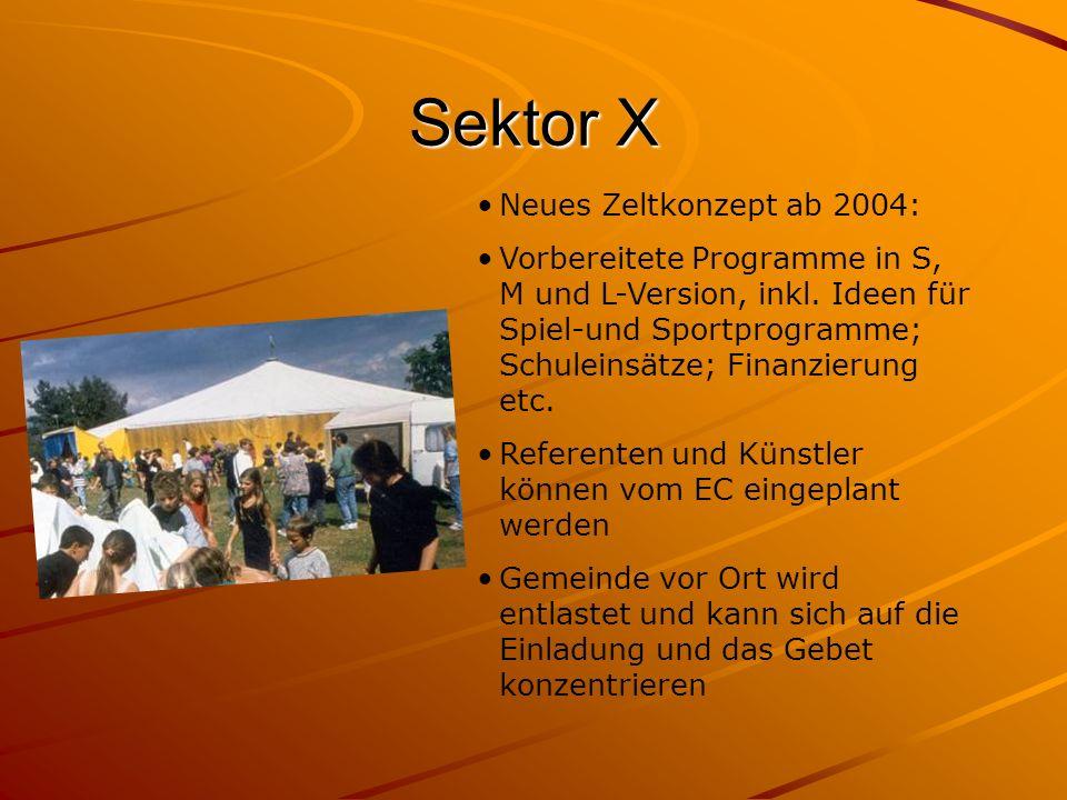 Sektor X Neues Zeltkonzept ab 2004: