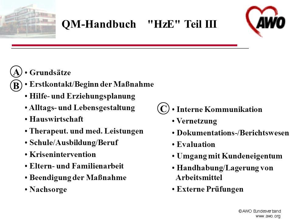 QM-Handbuch HzE Teil III