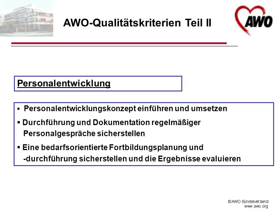 AWO-Qualitätskriterien Teil II