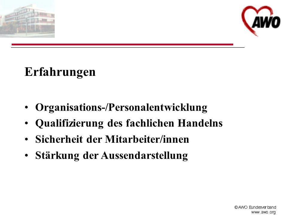 Erfahrungen Organisations-/Personalentwicklung