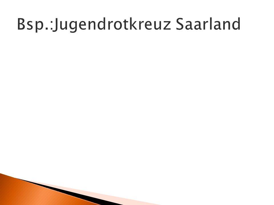 Bsp.:Jugendrotkreuz Saarland