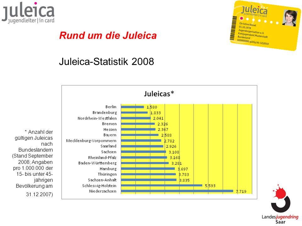 Rund um die Juleica Juleica-Statistik 2008