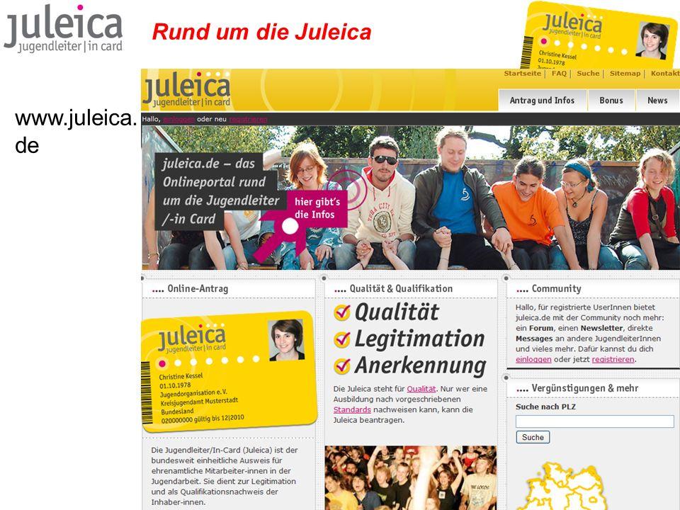 Rund um die Juleica www.juleica. de