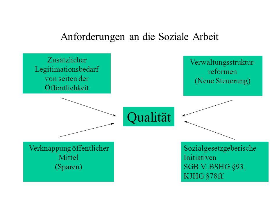 Qualität Anforderungen an die Soziale Arbeit
