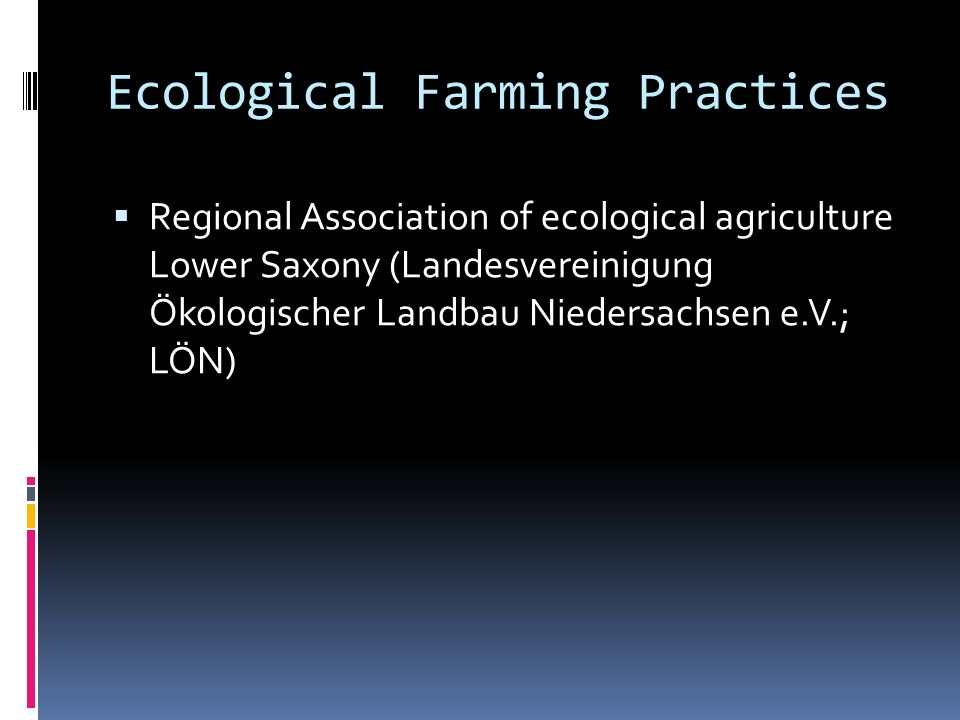 Ecological Farming Practices