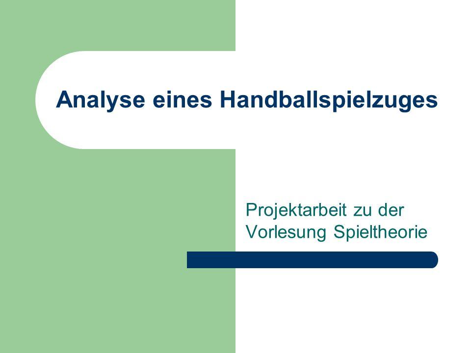 Analyse eines Handballspielzuges