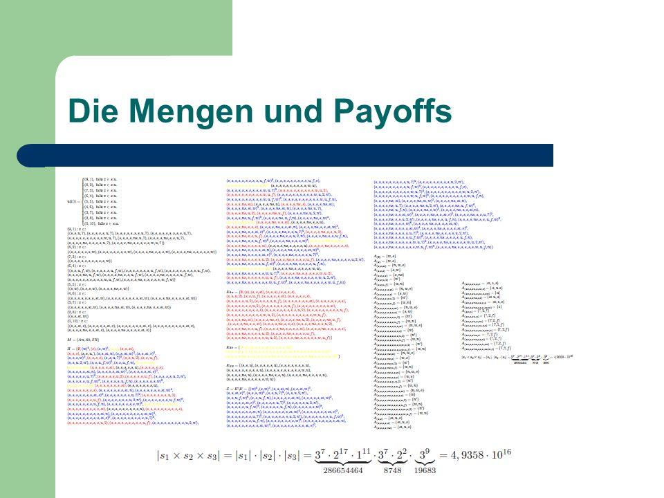 Die Mengen und Payoffs
