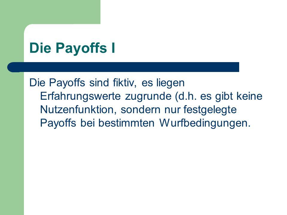 Die Payoffs I