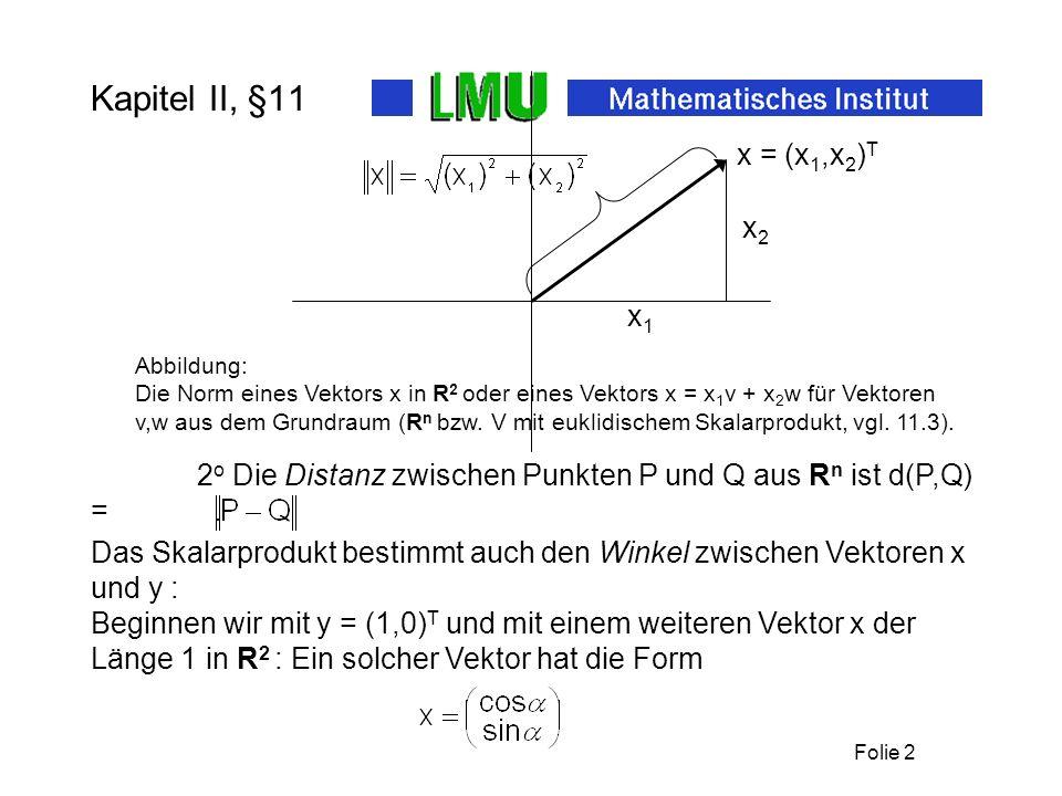 Kapitel II, §11x1. x2. x = (x1,x2)T. Abbildung: