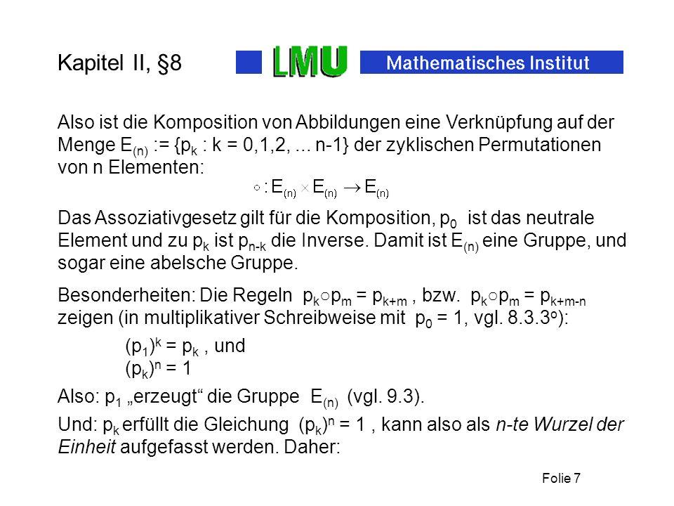 Kapitel II, §8