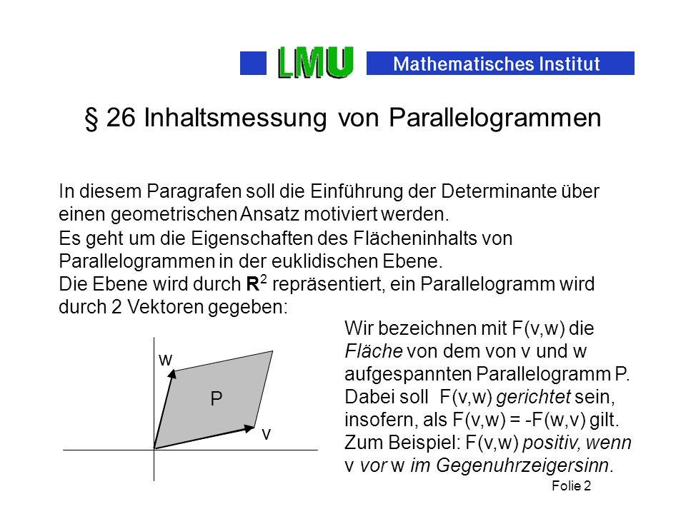 § 26 Inhaltsmessung von Parallelogrammen