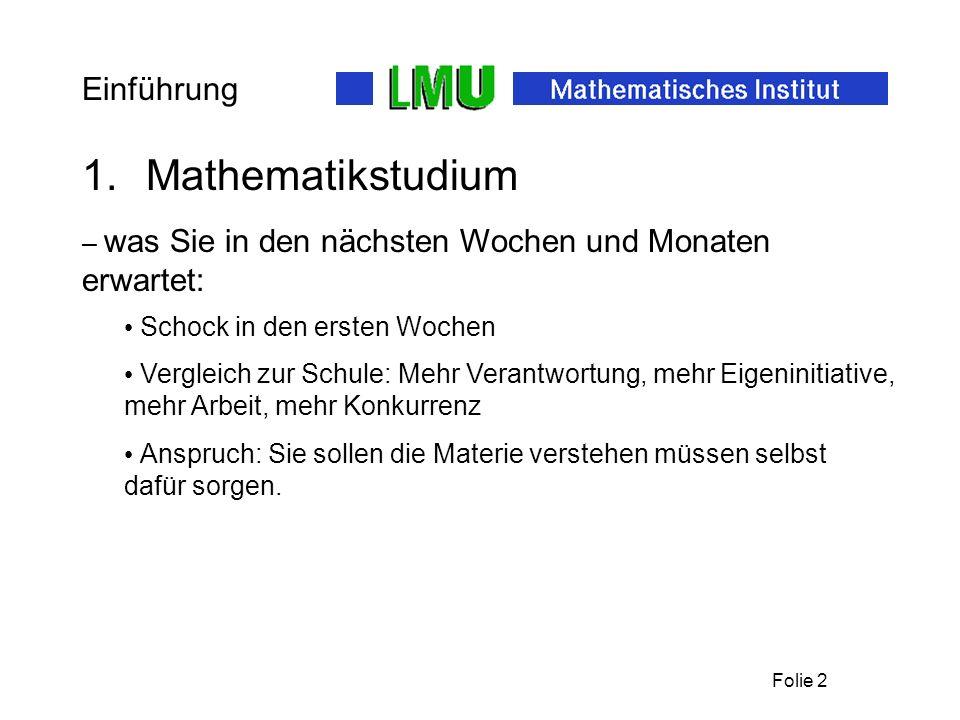 Mathematikstudium Einführung