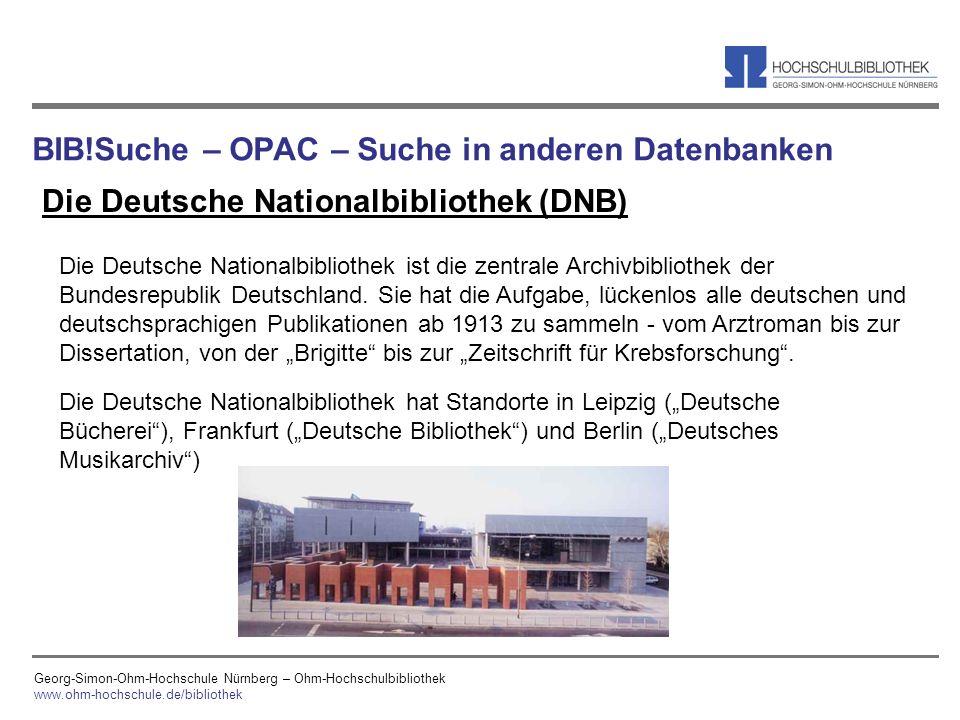 BIB!Suche – OPAC – Suche in anderen Datenbanken
