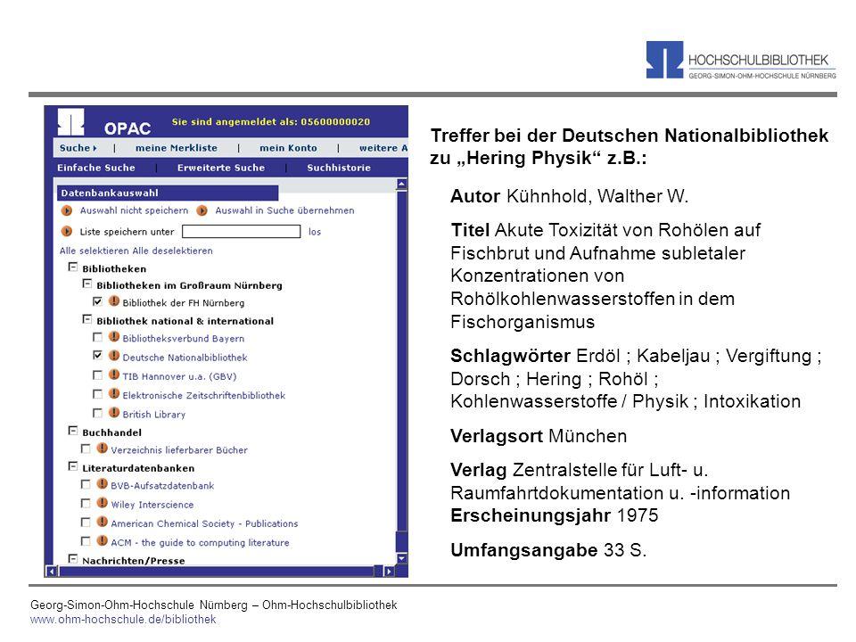 """Treffer bei der Deutschen Nationalbibliothek zu """"Hering Physik z.B.:"""