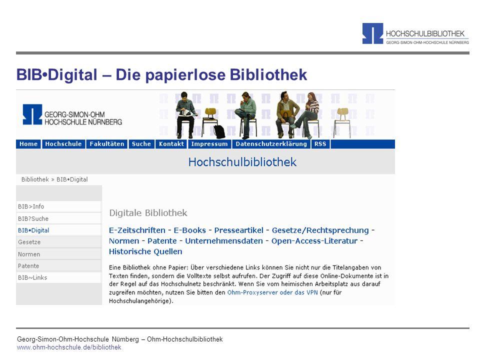 BIB•Digital – Die papierlose Bibliothek