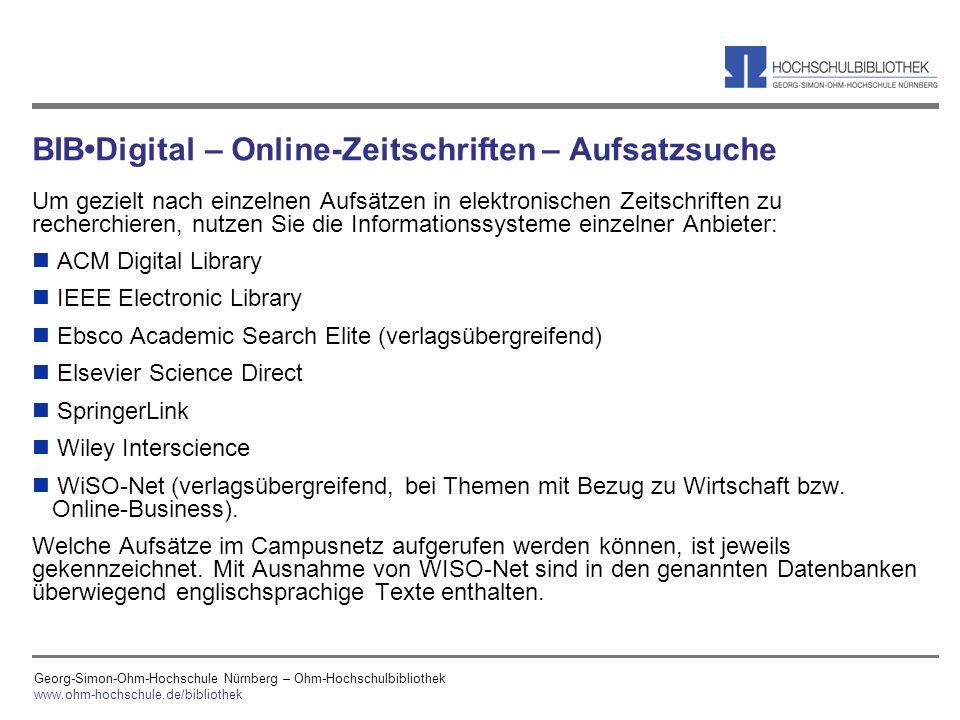 BIB•Digital – Online-Zeitschriften – Aufsatzsuche