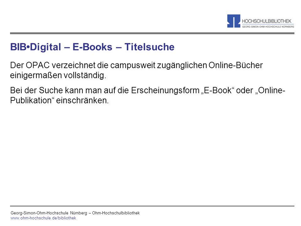 BIB•Digital – E-Books – Titelsuche
