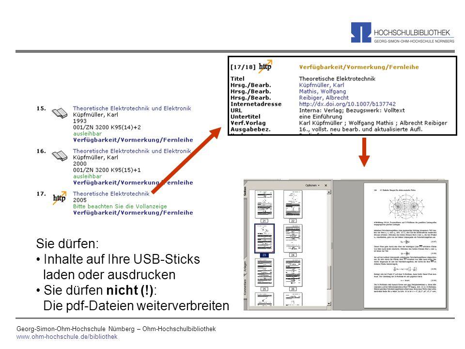 Inhalte auf Ihre USB-Sticks laden oder ausdrucken