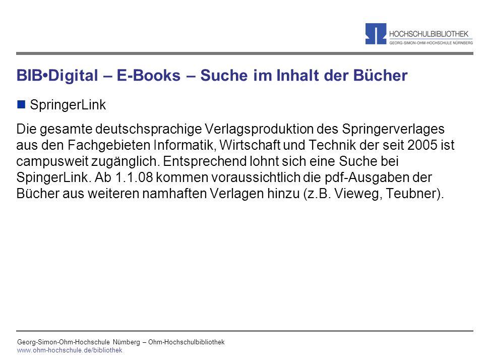 BIB•Digital – E-Books – Suche im Inhalt der Bücher
