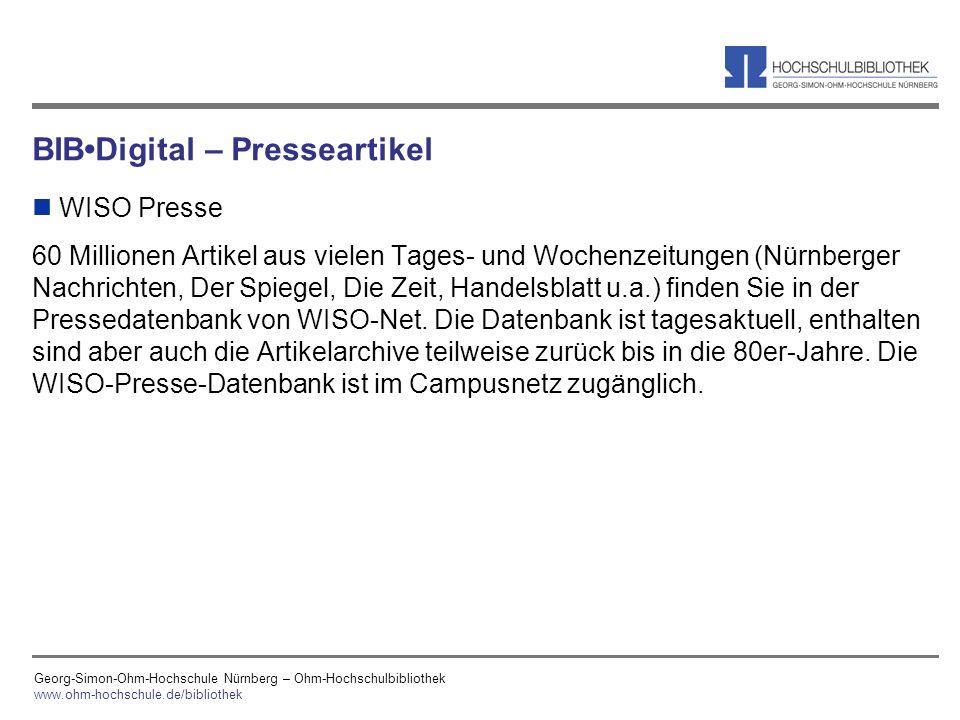 BIB•Digital – Presseartikel