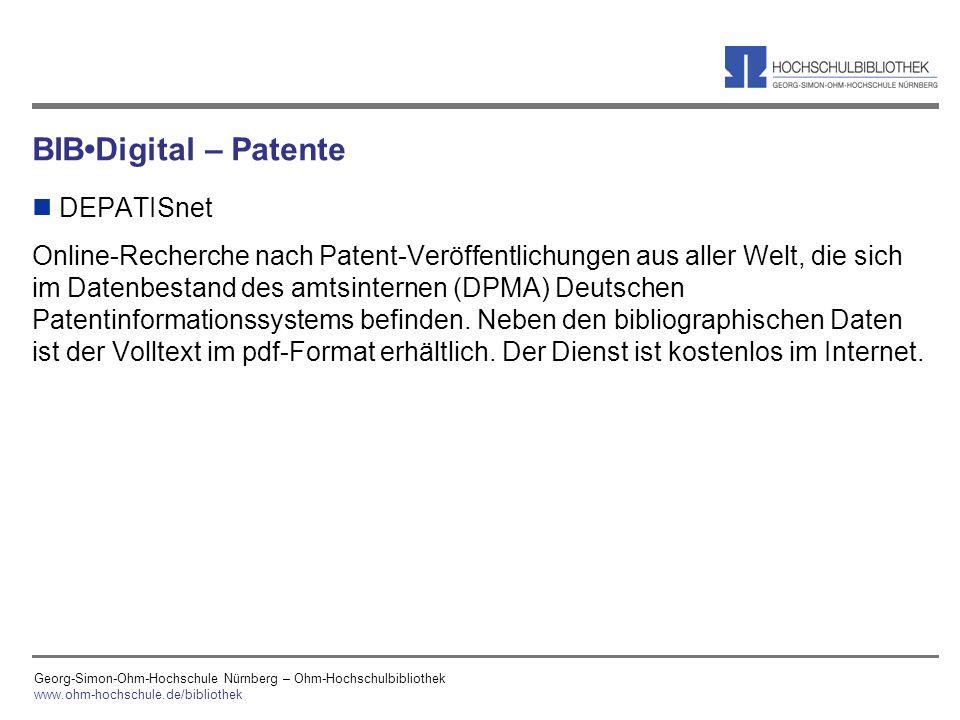 BIB•Digital – Patente DEPATISnet