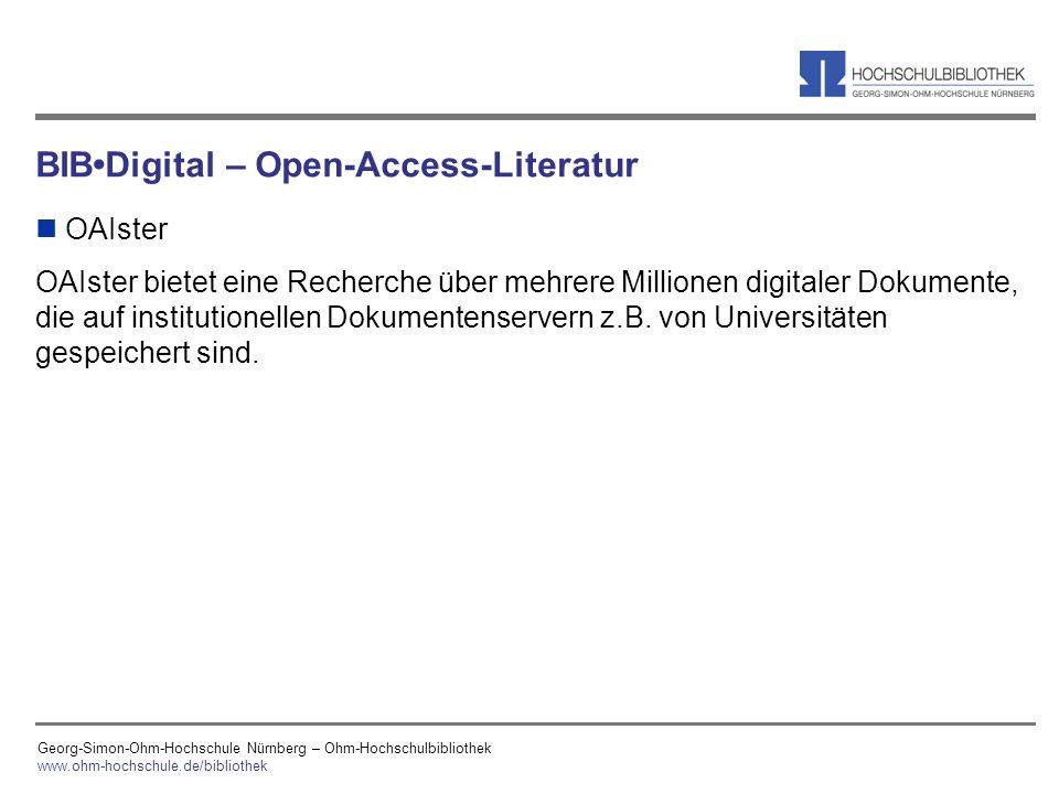 BIB•Digital – Open-Access-Literatur