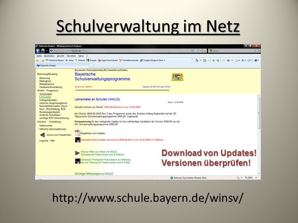 Schulverwaltung im Netz