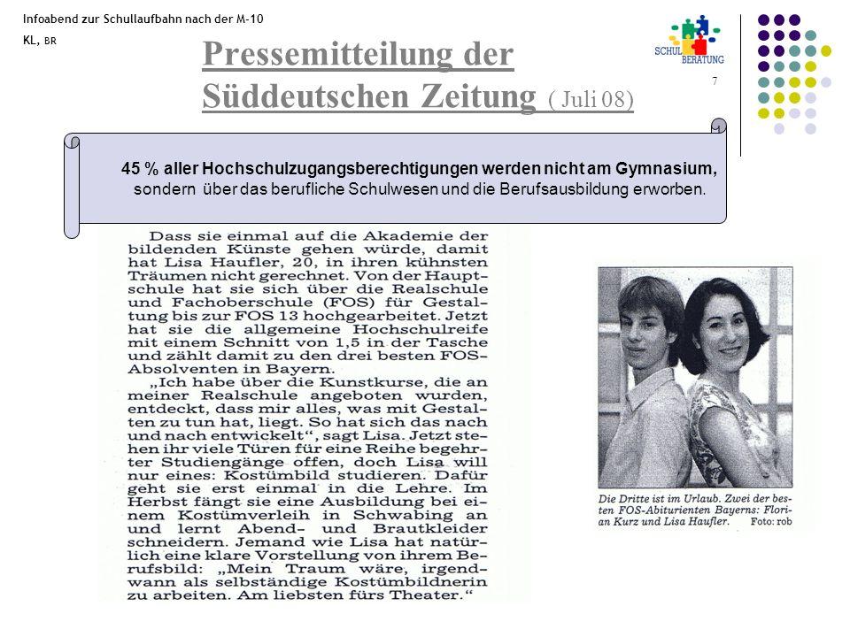 Pressemitteilung der Süddeutschen Zeitung ( Juli 08)