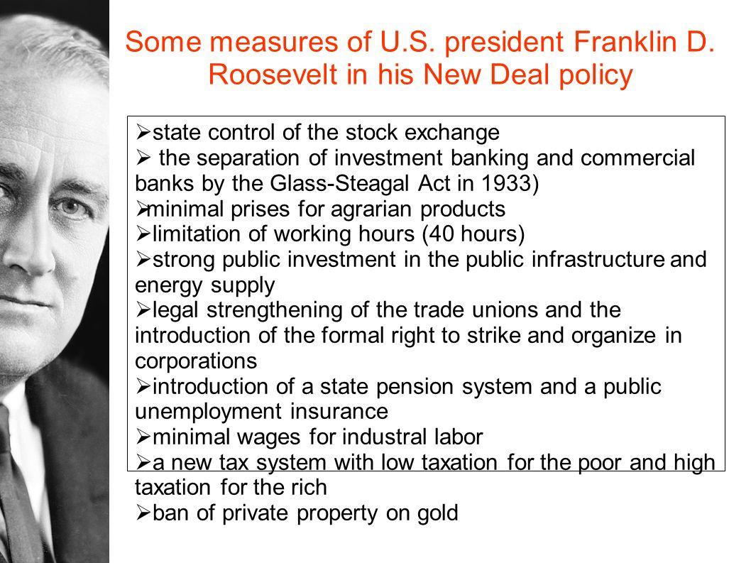 Some measures of U. S. president Franklin D