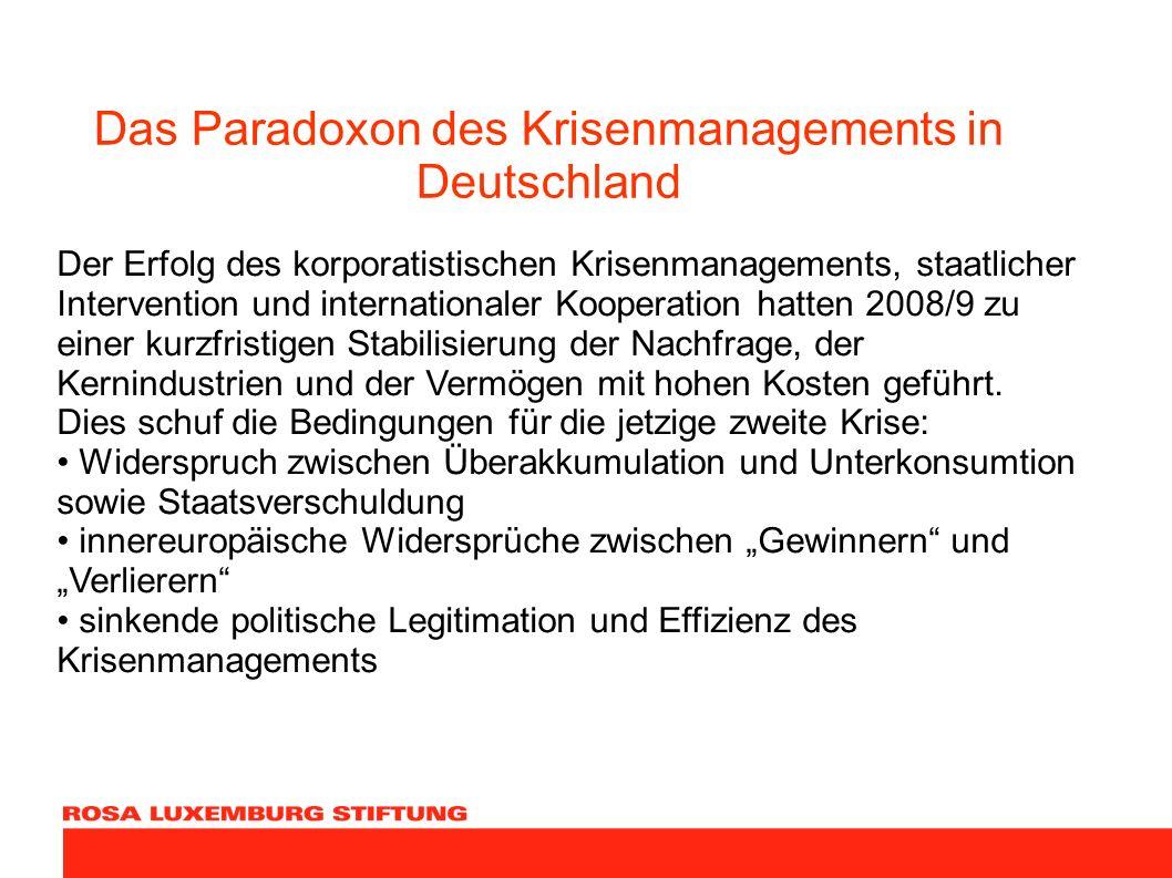 Das Paradoxon des Krisenmanagements in Deutschland