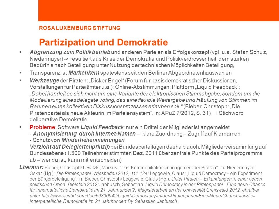Partizipation und Demokratie