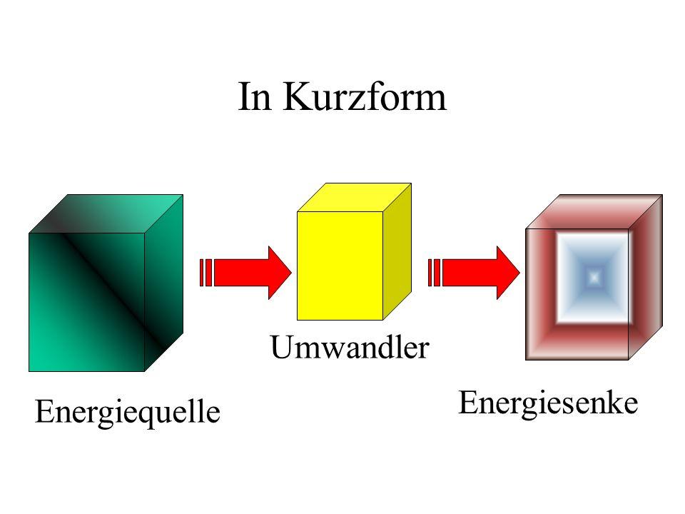 In Kurzform Umwandler Energiesenke Energiequelle