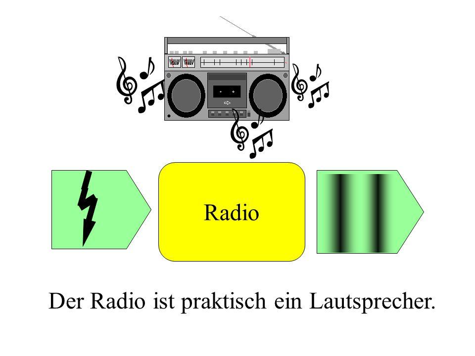 Radio Der Radio ist praktisch ein Lautsprecher.