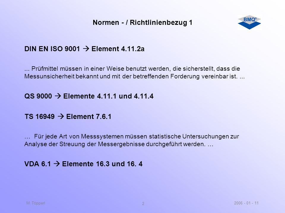 Normen - / Richtlinienbezug 1
