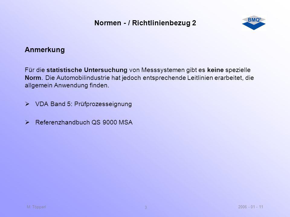 Normen - / Richtlinienbezug 2
