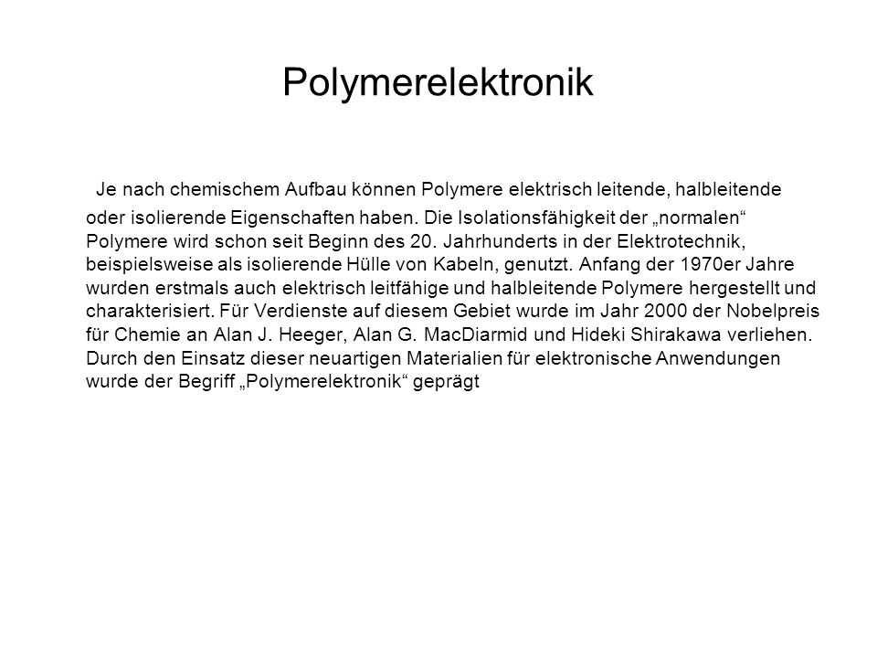 Polymerelektronik
