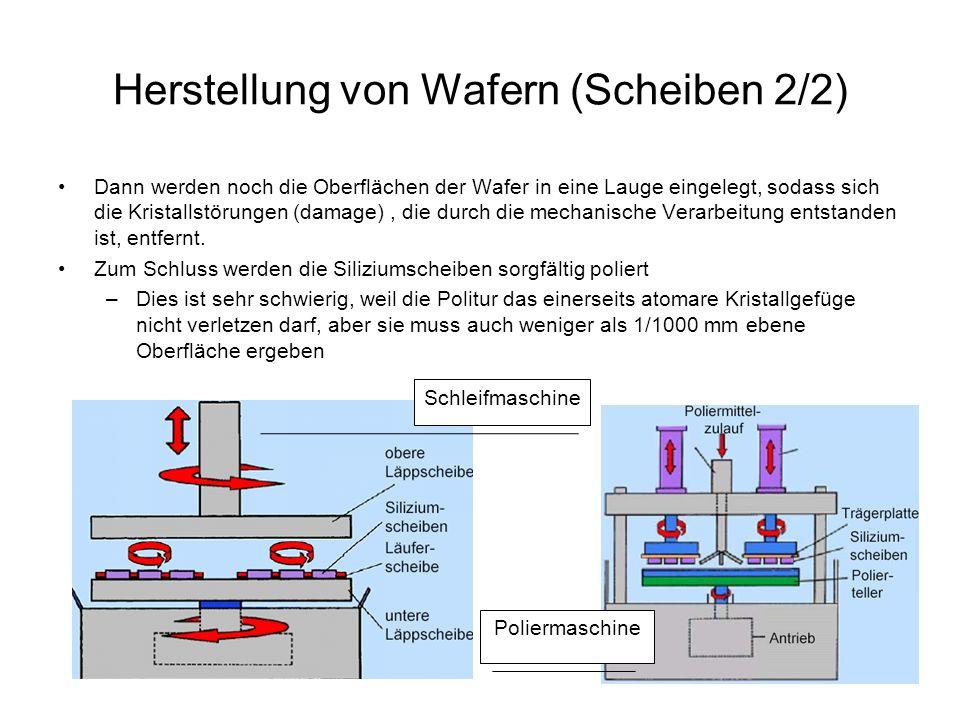 Herstellung von Wafern (Scheiben 2/2)