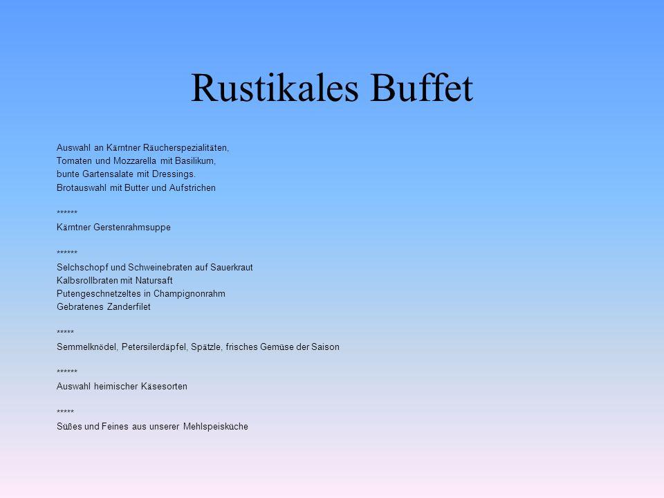 Rustikales Buffet