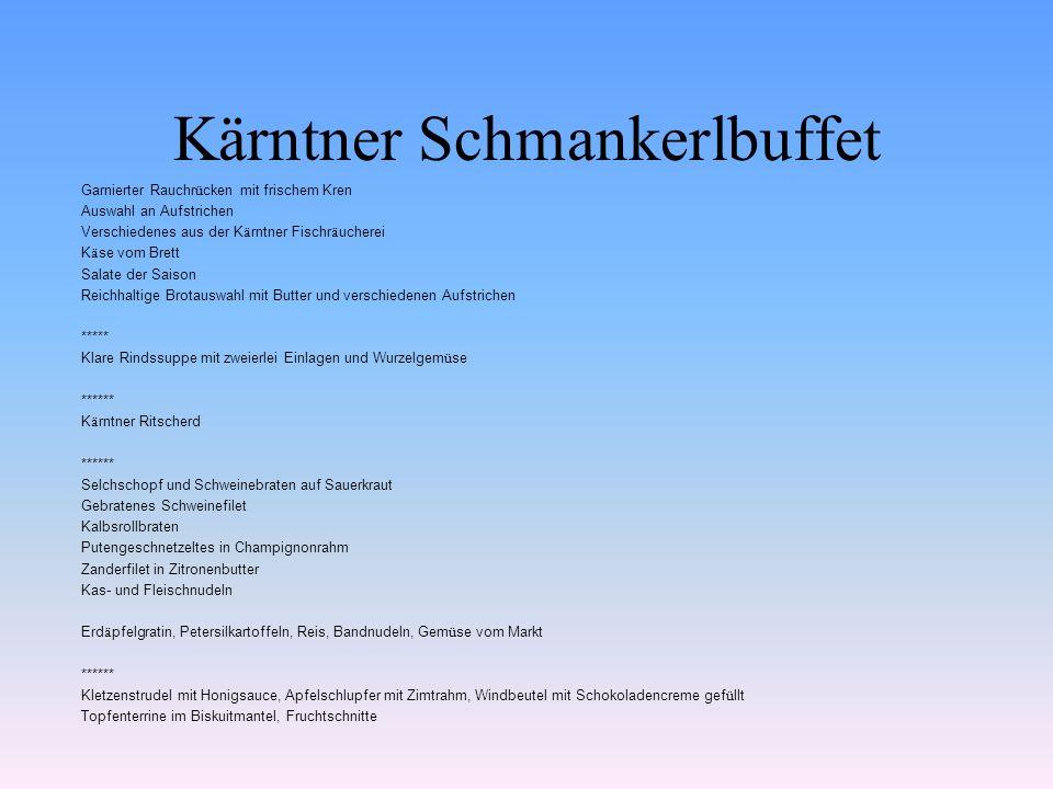 Kärntner Schmankerlbuffet