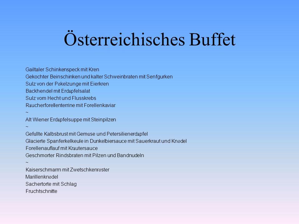 Österreichisches Buffet