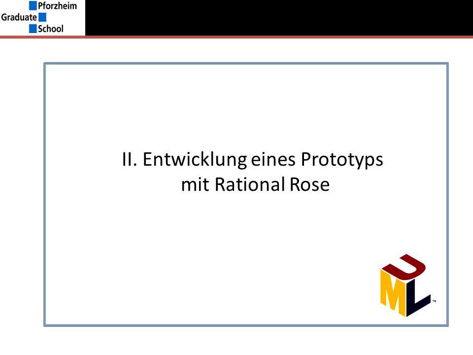 II. Entwicklung eines Prototyps mit Rational Rose