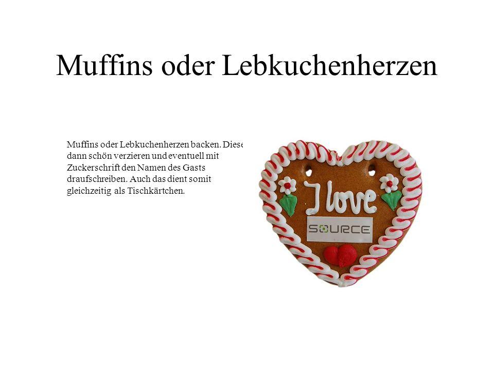 Muffins oder Lebkuchenherzen